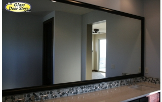 large black bathroom mirror frame