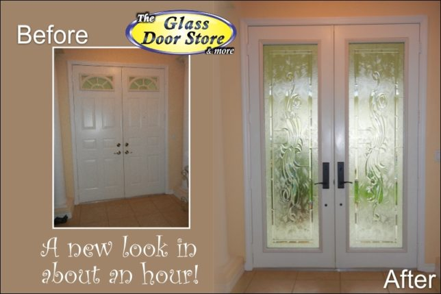 we can add glass to your existing metal doors
