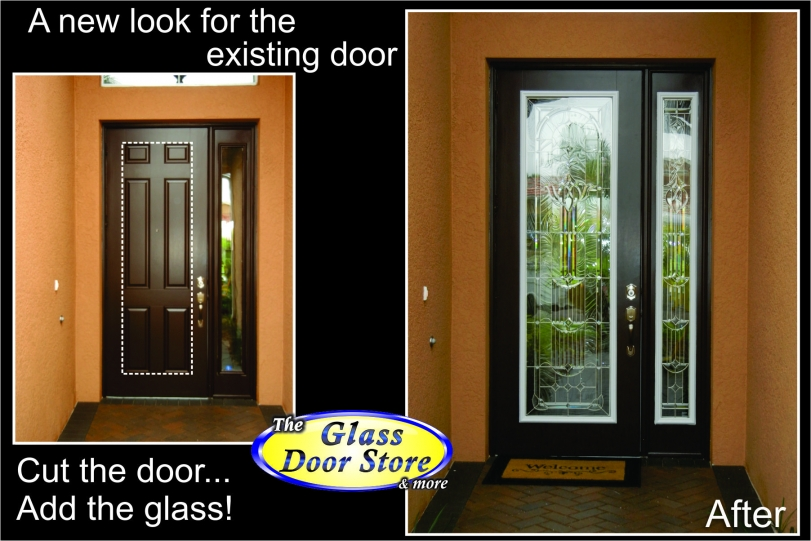 Single front door with glass insert partial size the for Single glass exterior door
