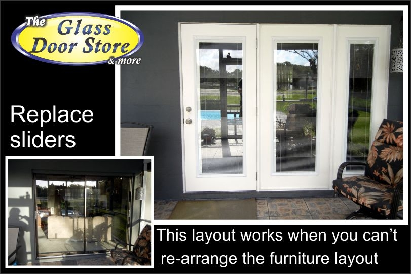 Replace sliding glass door with french doors for Sliding glass doors that look like french doors