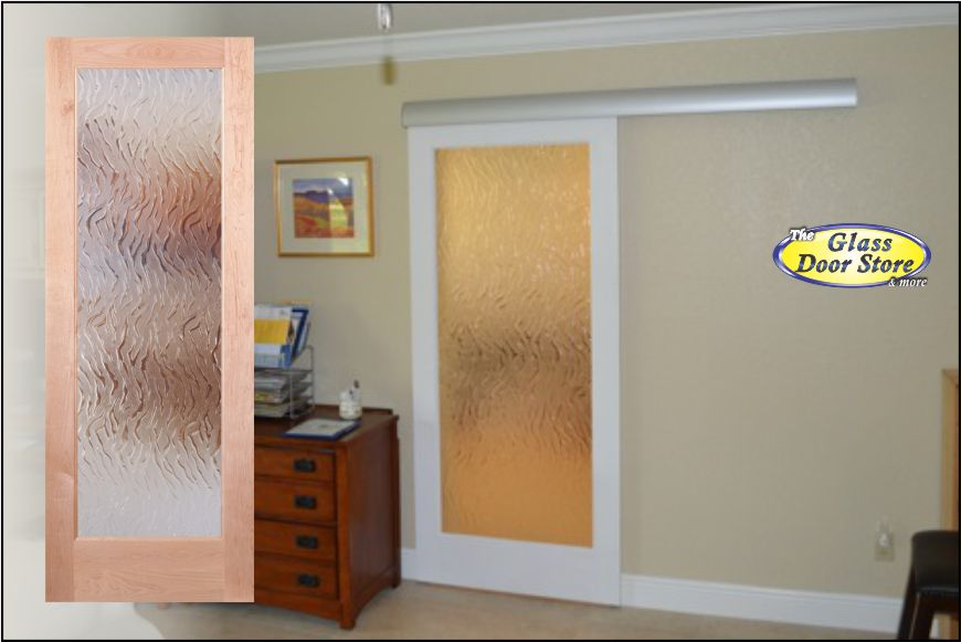 A sliding barn door for the office or spare room with glass