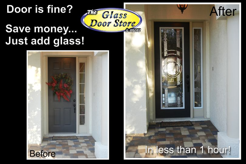Merry Christmas to your wife! A glass door makes a great gift!