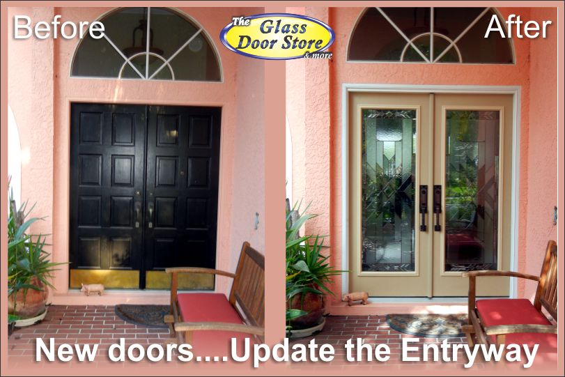 New doors add glamour and light to dark entryways