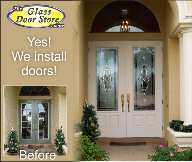 Yes we install doors
