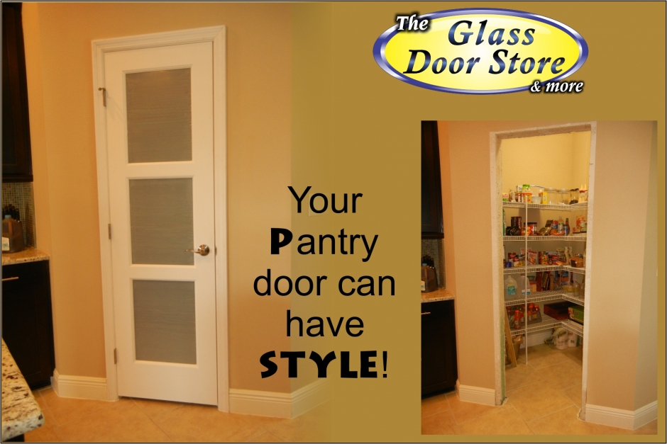 frosted single interior pantry door
