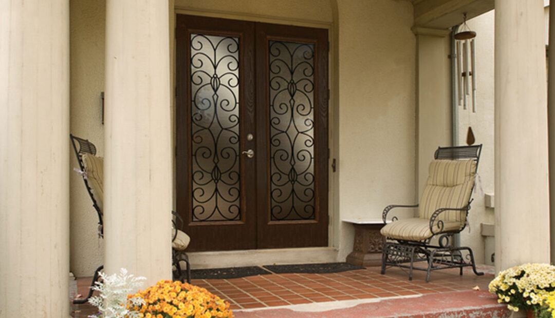 Wrought Iron Exterior Glass Doors