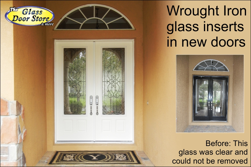 wrought iron glass entry doors