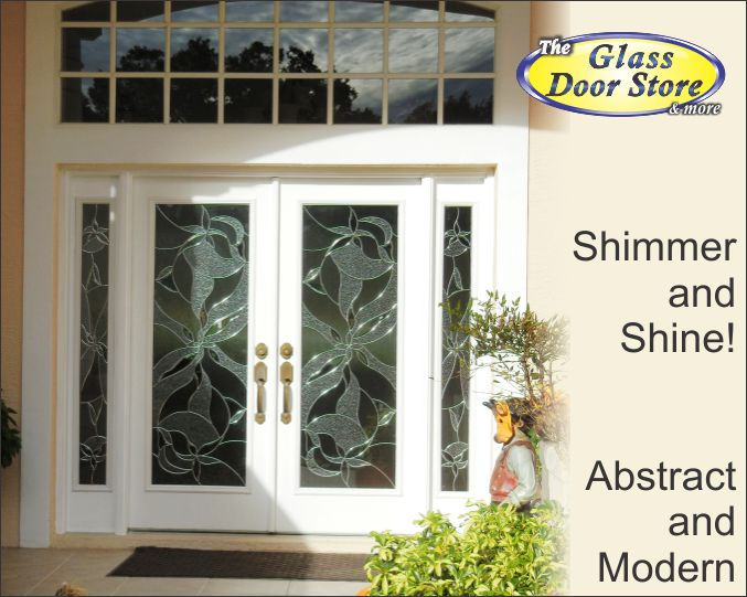 Shimmering modern decorative glass inserts replace Tampa builders original choice