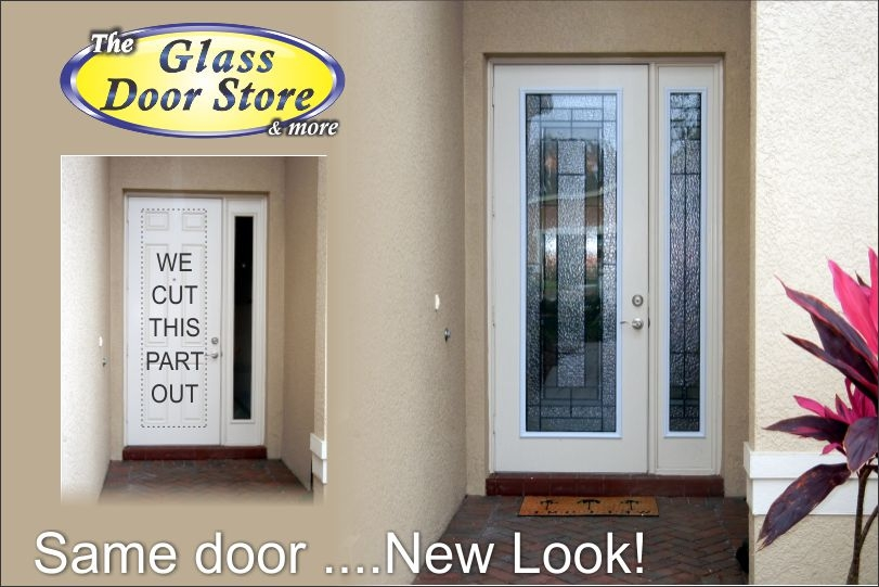 Tall Front Door? We add glass inserts…No Problem!