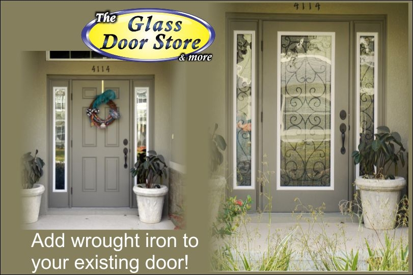 Does wrought iron front doors speak to you?